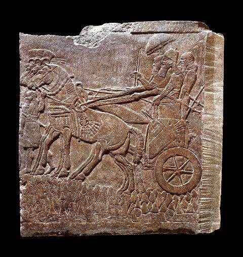 Настенный рельеф с изображением Ашшурнацирапала II