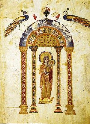 Раввула, Четвероевангелие, миниатюра